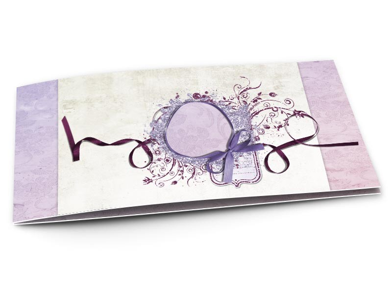 faire part mariage un ruban violet r. Black Bedroom Furniture Sets. Home Design Ideas