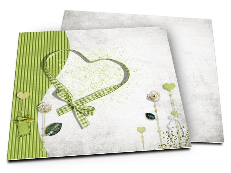 Faire-part mariage - Tous en coeur