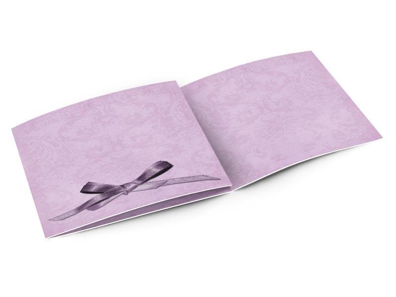 Faire-part mariage - Un petit noeud violet