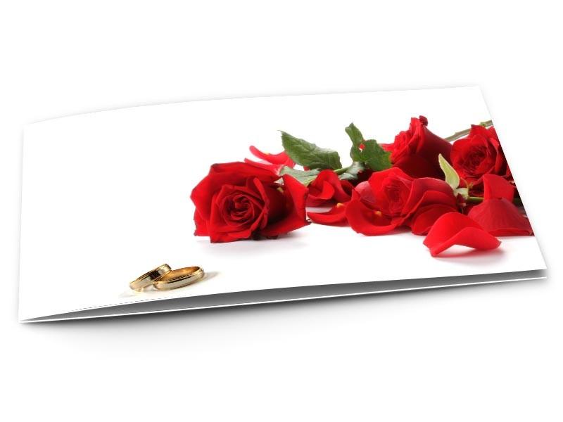 Faire-part mariage - Alliances et roses - réf.01MAR3027 - 1001Cartes