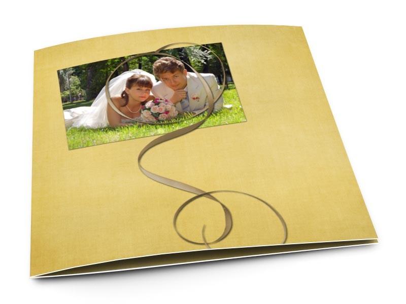 Remerciements mariage - Fil d'or