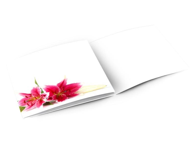 Remerciements mariage - Parterre de lys rouge orangé