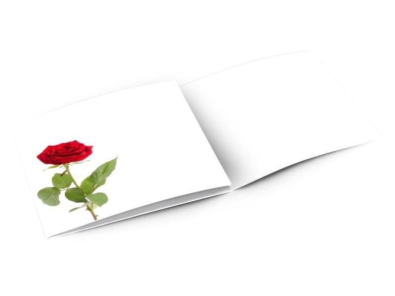 Remerciements mariage - La rose feuillue