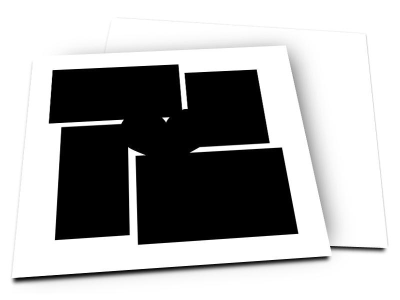 Pele-Mele - Pêle-mêle style 31: 5 photos coeurs et rectangles