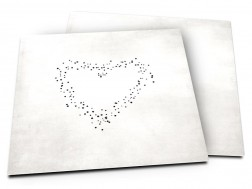 Faire-part mariage - Coeur de lumière