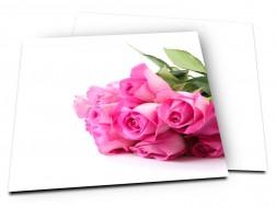 Faire-part mariage - Bouquet de roses rose