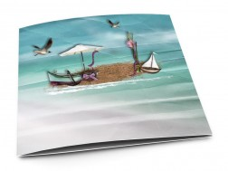 carton d 39 invitation mariage la mer une plage en t. Black Bedroom Furniture Sets. Home Design Ideas