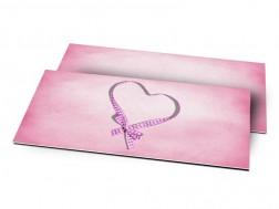 Remerciements naissance - Coeur de ruban rose