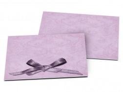Carton d'invitation mariage - Un petit noeud violet