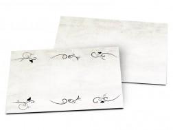 Carton d'invitation mariage - Ornements noirs