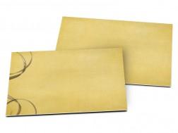 Carton d'invitation mariage - Fil d'or