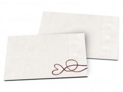 Carton d'invitation mariage - Coeur éclairé