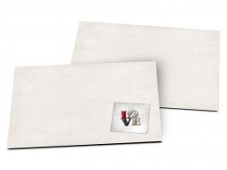 Carton d'invitation mariage - Love sur tissu ray