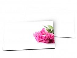 Carton d'invitation mariage - Bouquet de roses rose