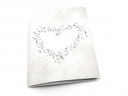 Menu mariage - Coeur de lumière