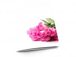 Menu mariage - Bouquet de roses rose