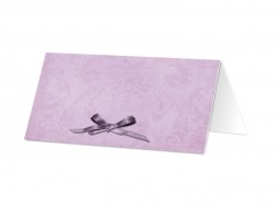 Marque-place mariage - Un petit noeud violet