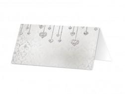 Marque-place mariage - Coeurs en pendentifs
